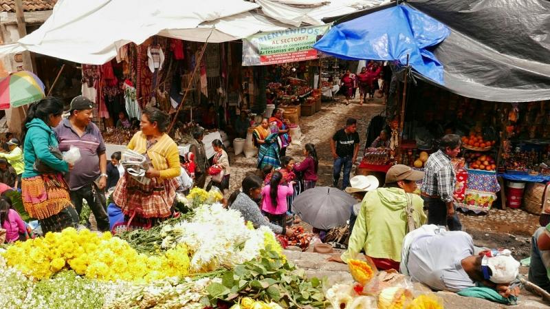 Jueves de mercado en Chichicastenango. / Junio 2018