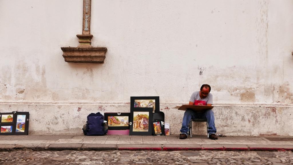 Pintor callejero de Antigua
