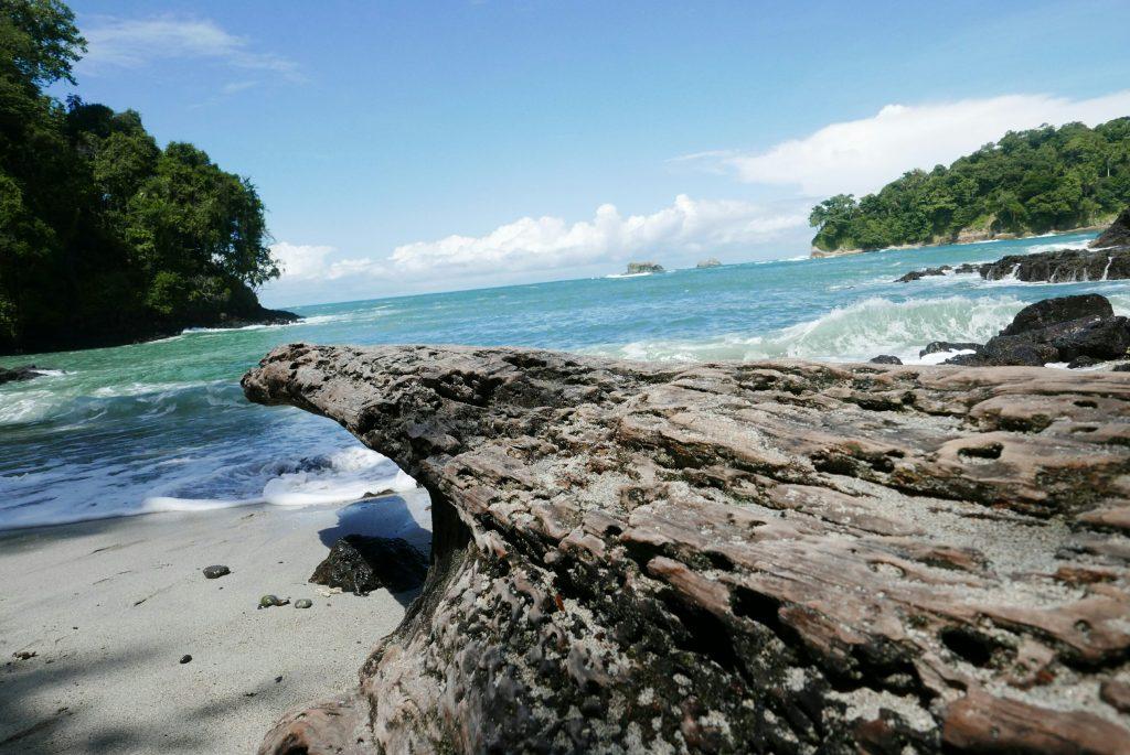 Playa Gemelas, la pequeña de las playas del Parque Manuel Antonio, presume de sus aguas azules cristalinas