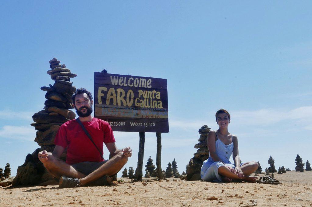 Antía y Javi en el punto más al norte de sudamérica